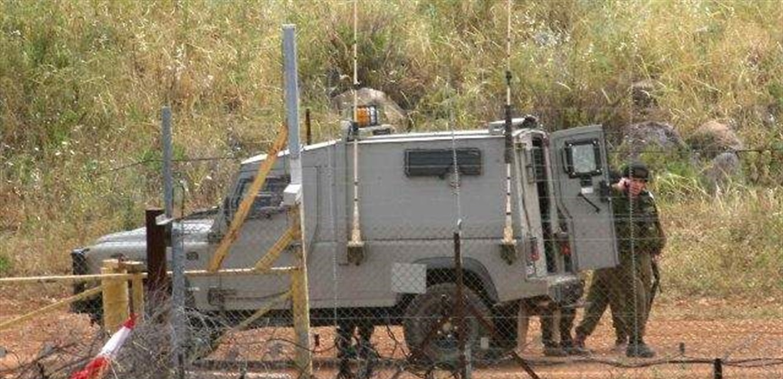 دورية إسرائيلية معادية تفقدت السياج التقني في كروم الشراقي