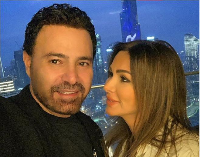 عاصي الحلاني يغازل زوجته كوليت ويظهران في دبي