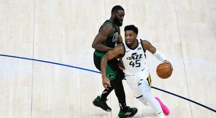NBA: يوتا يفوز على بوسطن ودونوفان ميتشيل يسجل 36 نقطة