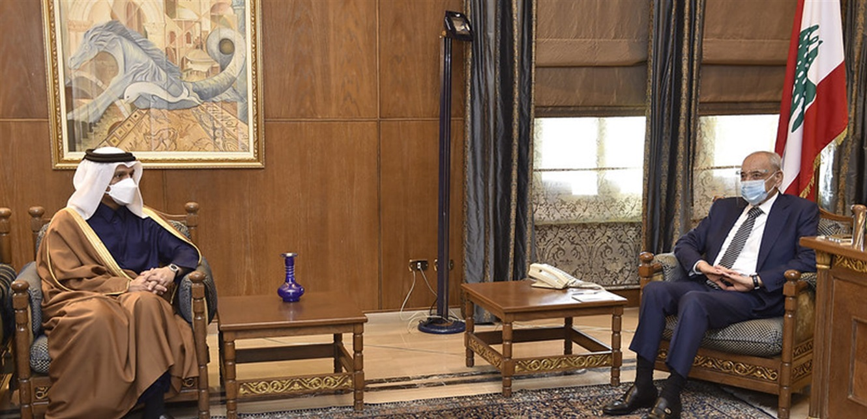 بري استقبل وزير الخارجية القطري وبحثا المستجدات السياسية في لبنان والمنطقة