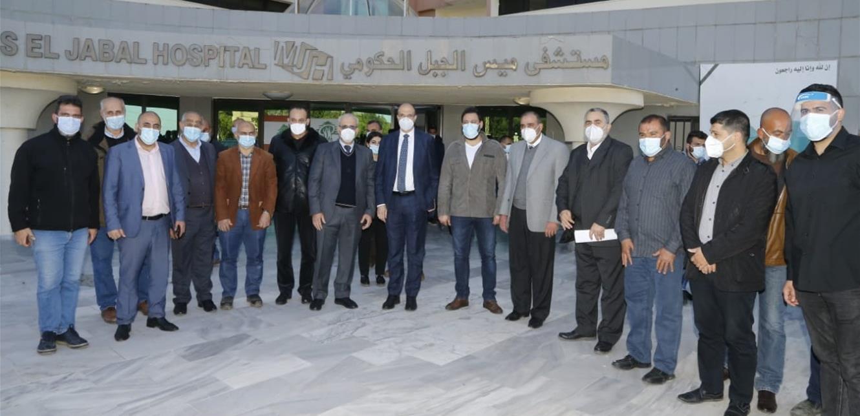 وزير الصحة تفقد مستشفى ميس الجبل الحكومي وهذا ما أكده