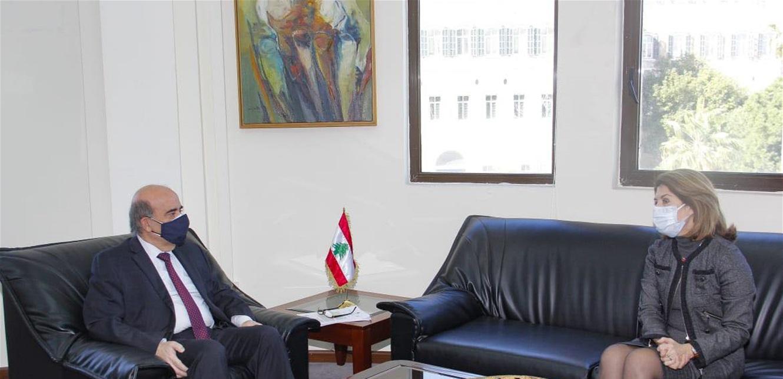 وهبه شرح للسفيرة اليونانية الخطوط العريضة للمفاوضات بين لبنان و'إسرائيل'