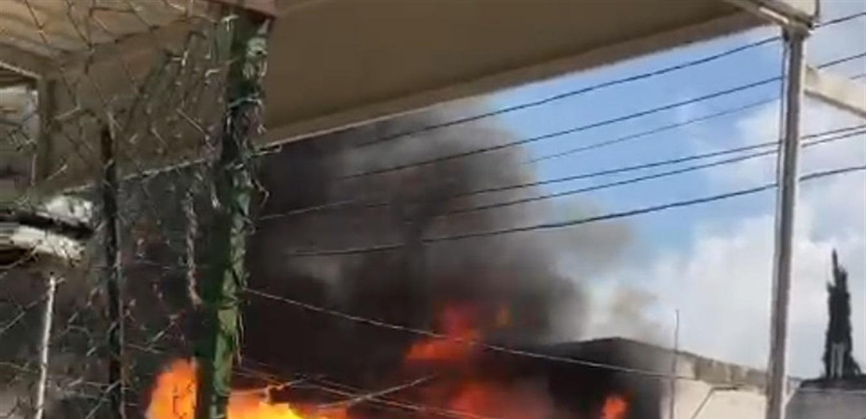 حريق في الزهراني