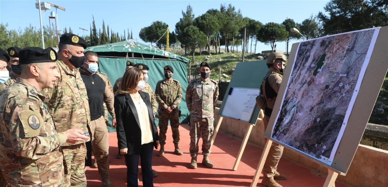 عكر تفقدت مراكز ألوية وأفواج للجيش في البقاع الغربي: حارس على أمن الناس واستقرارهم في هذه المنطقة