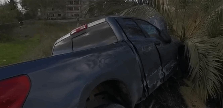 حادث على أوتوستراد النبطية بسبب تسرّب مادة المازوت (فيديو)