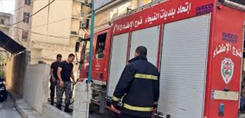 حريق البلدية والمحكمة الشرعية.. فوج إطفاء طرابلس يرد