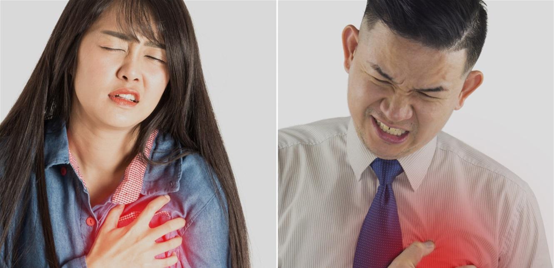 أعراض الأزمة القلبية تختلف بين الرجال والنساء