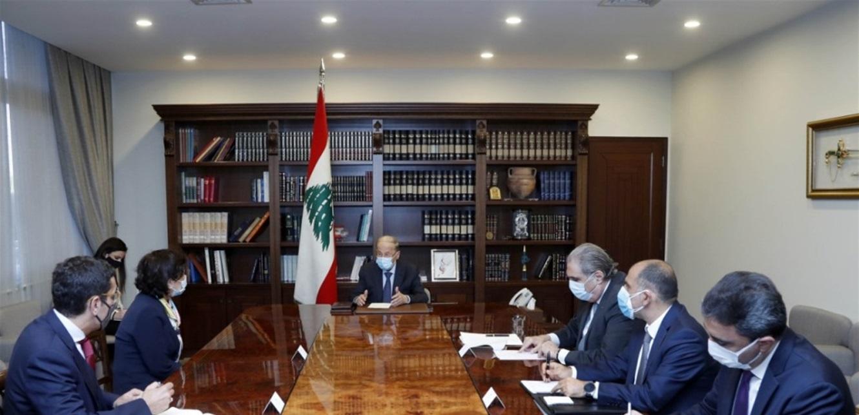 عون بحث مع رشدي في عمل المنظمات الأممية في لبنان والتقى المجذوب