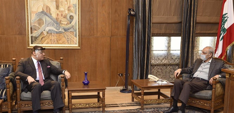 بري إستقبل السفير المصري ورعد والأخير وضعه في نتائج زيارته لموسكو