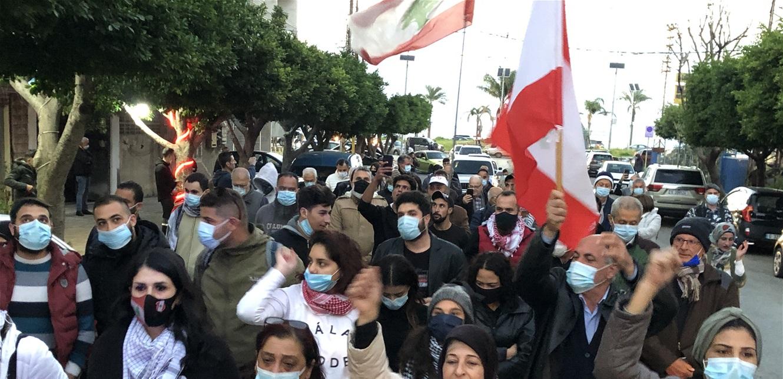 تظاهرة لناشطي حراك صور احتجاجًا على تردي الأوضاع المعيشية