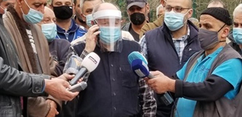 اعتصام لموظفي الصيانة في مجمع اللبنانية في الحدث مطالبين بمستحقاتهم