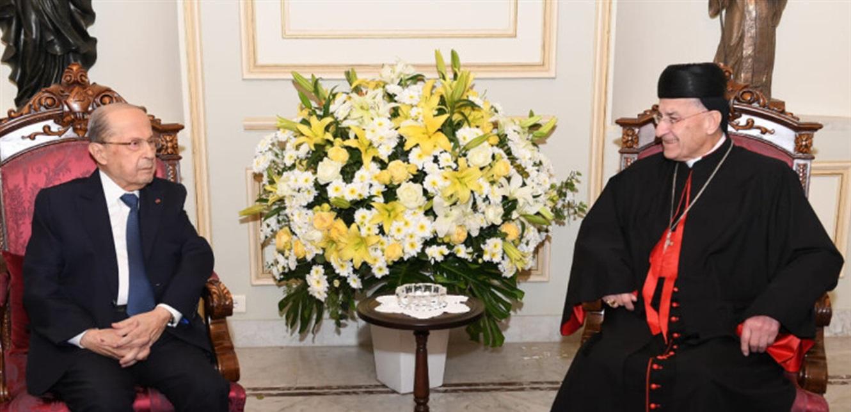 زيارة عون لبكركي: توقيت ملتبس ولا تقدم حكوميا