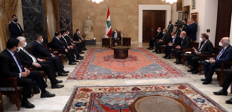 وفد عراقي التقى عون: هناك توجه حكومي لدعم لبنان على كافة المستويات