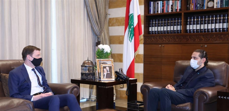 الحريري عرض مع هيل آخر المستجدات والعلاقات الثنائية