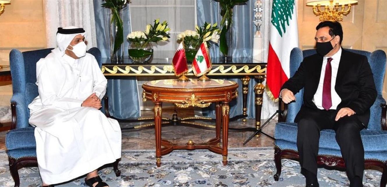 دياب يلتقي عدداً من المسوؤلين القطريين في الدوحة