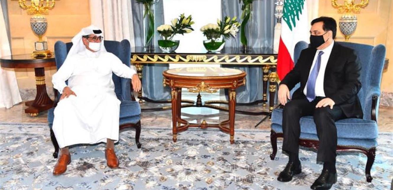 دياب واصل لقاءاته في الدوحة مع المسؤولين القطريين
