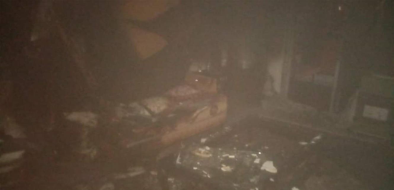 إحترق منزله في الميناء بسبب ماس كهربائي (صورة)