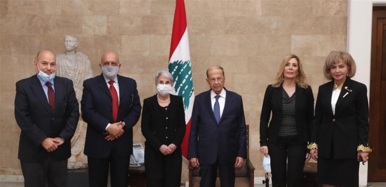 عون التقى وفد الهيئة الوطنية لدعم مبادرته