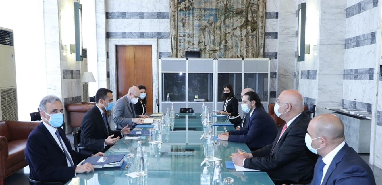 الحريري عرض الاوضاع مع وزير الخارجية الايطالي