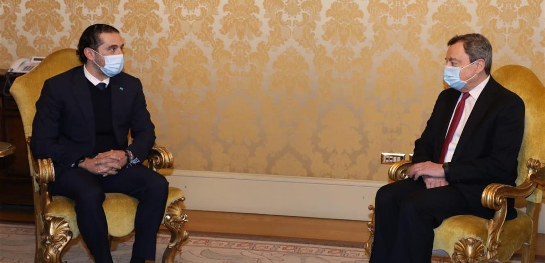 الحريري التقى رئيس الوزراء الإيطالي…وهذا ما تم بحثه