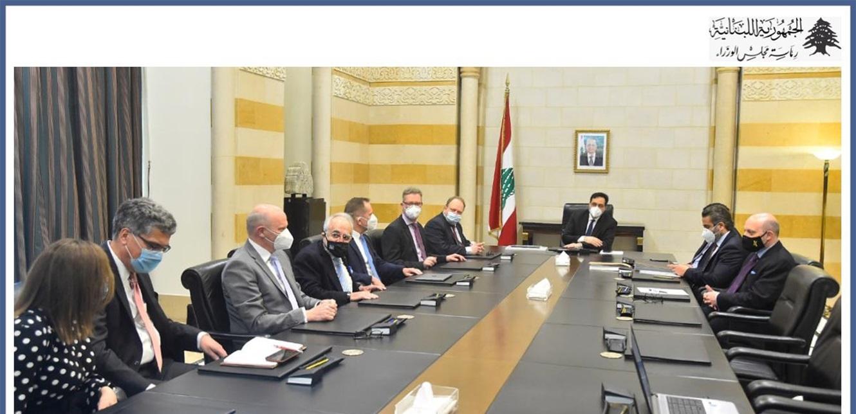 دياب اطلع من وفد الماني على دراسة أولية حول إعادة تفعيل مرفأ بيروت تجاريا وسياحيا