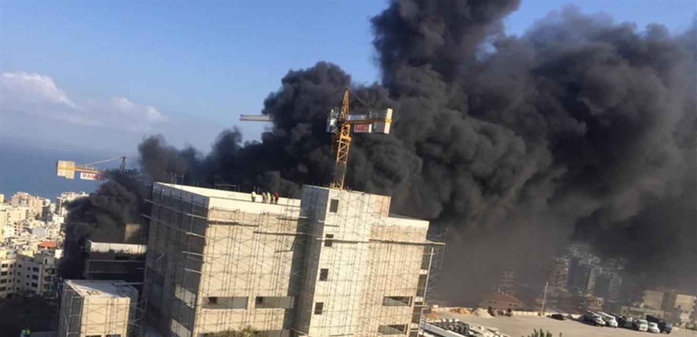 اندلاع حريق داخل ثكنة قوى الأمن في عرمون (فيديو)