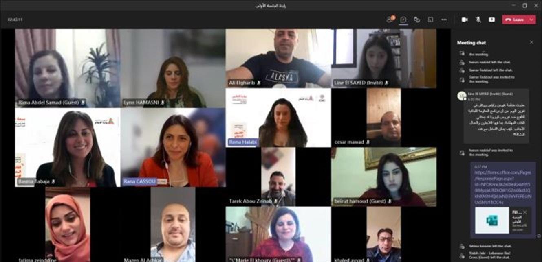 وزارة الإعلام والصليب الأحمر افتتحا الدورة التدريبية الافتراضية المخصصة للصحافيين الميدانيين