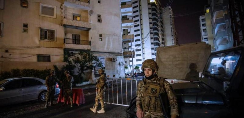 الجيش يوقف ٤ مطلوبين في باب التبانة