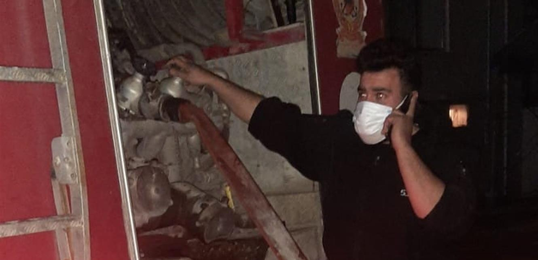 إخماد حريق في مكاتب شركة دبانه في الزهراني