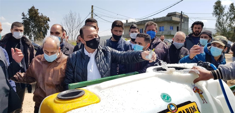 مرتضى أطلق ورش رش المبيدات في وادي خالد وكل عكار