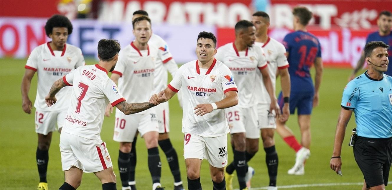 الدوري الإسباني.. 'إشبيلية' يهزم 'أتلتيكو' ويقدم هدية لـ'برشلونة' و'الريال'