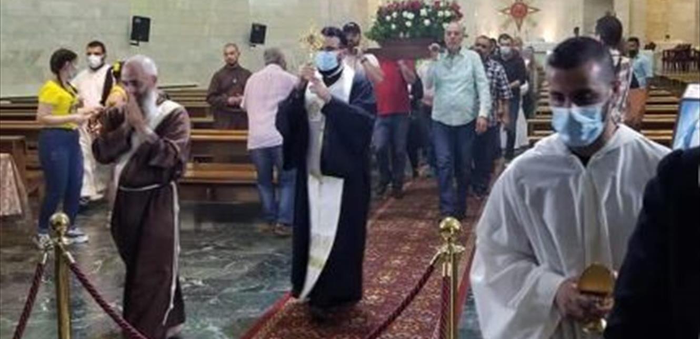 وصول ذخيرة من زنار العذراء مريم الى المطرانية الكلدانية في بعبدا